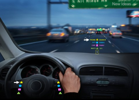Haptic steering wheel