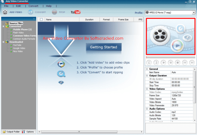 Any Video Converter Ultimate Crack + keygen
