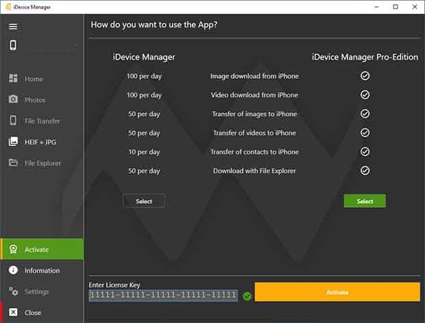 iDevice Manager Pro Edition Crack + License key Download