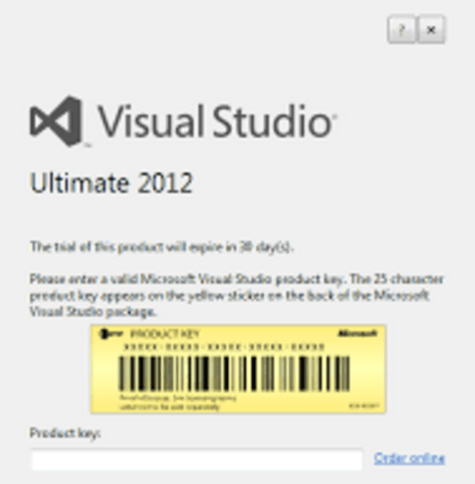 product key visual studio 2012 professional