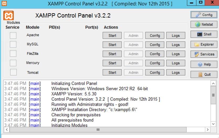 xampp 64 bits windows 8.1