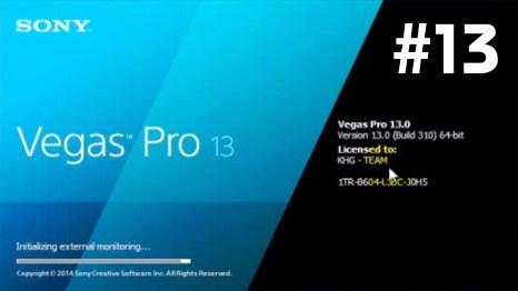 Sony Vegas Pro 13 Serial Number