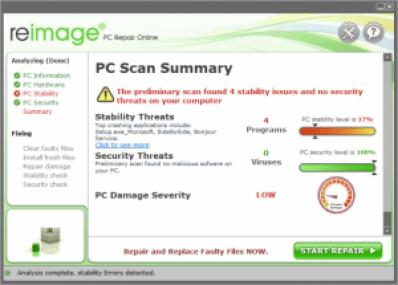 what is reimage crashed program