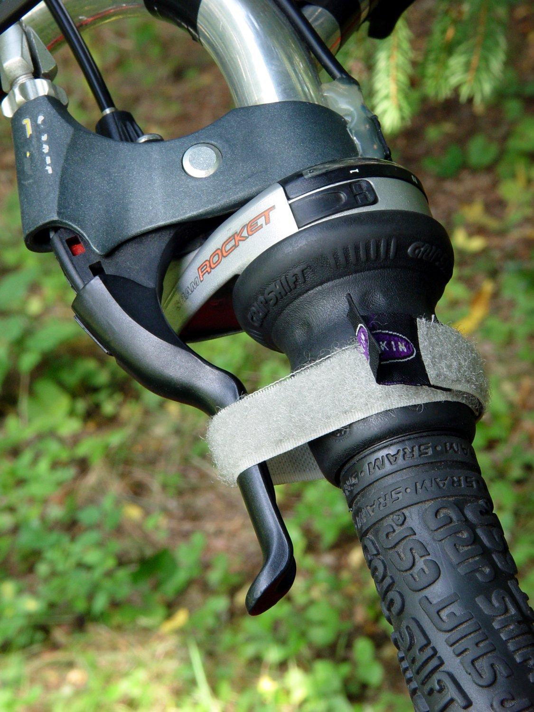 Bicycle parking brake strap
