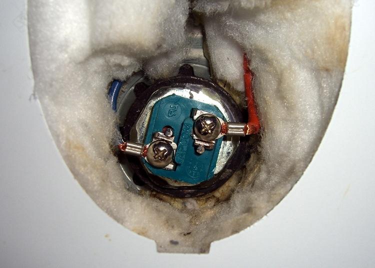 Reinstalled heating element