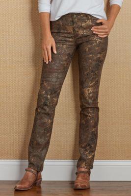 Fleur Jeans Floral Jeans Bronze Jeans Soft Surroundings