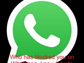 blocked you on Whatsapp