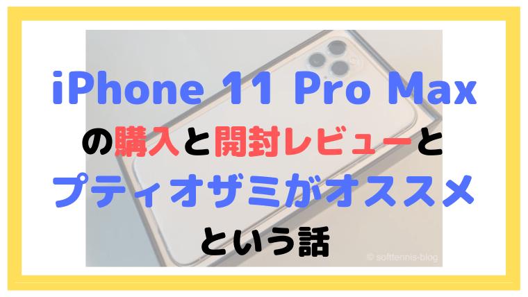 iPhone 11 Pro Maxの購入と開封レビューとプティオザミがオススメという話