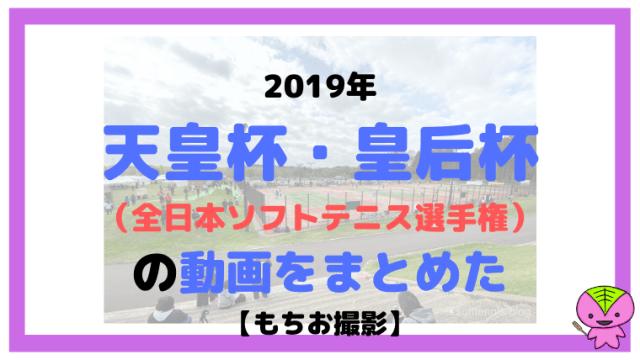 2019年天皇杯皇后杯=全日本ソフトテニス選手権の動画をまとめた【もちお撮影】