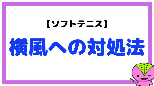 【ソフトテニス】横風への対処法