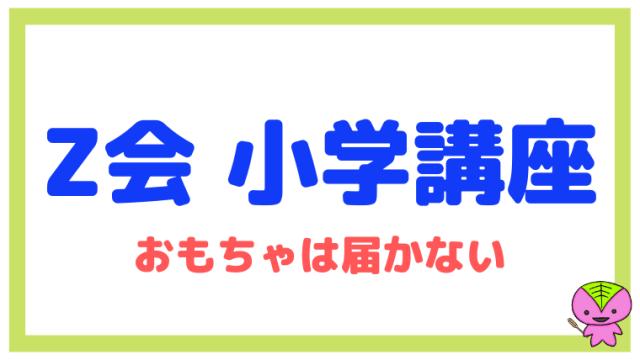 【Z会 小学講座】について東大卒元教員が解説(おもちゃは届かない)