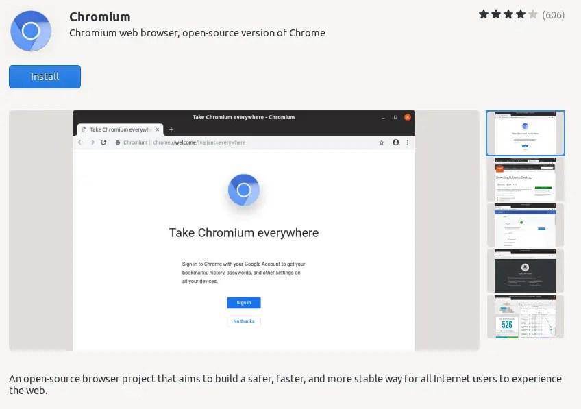 Chromium install Ubuntu