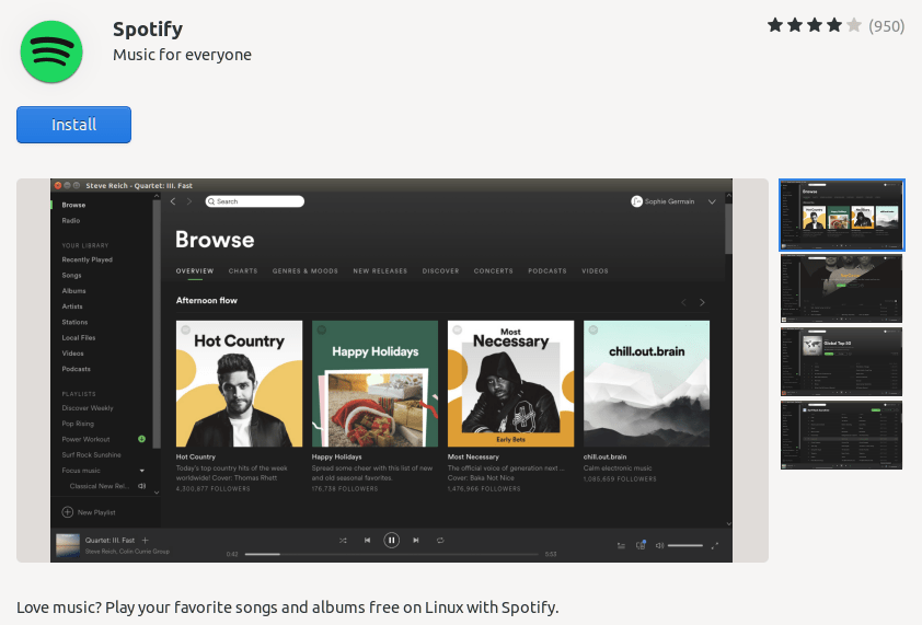 Install spotify Ubuntu