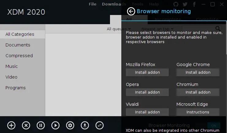 Download Manager in Ubuntu