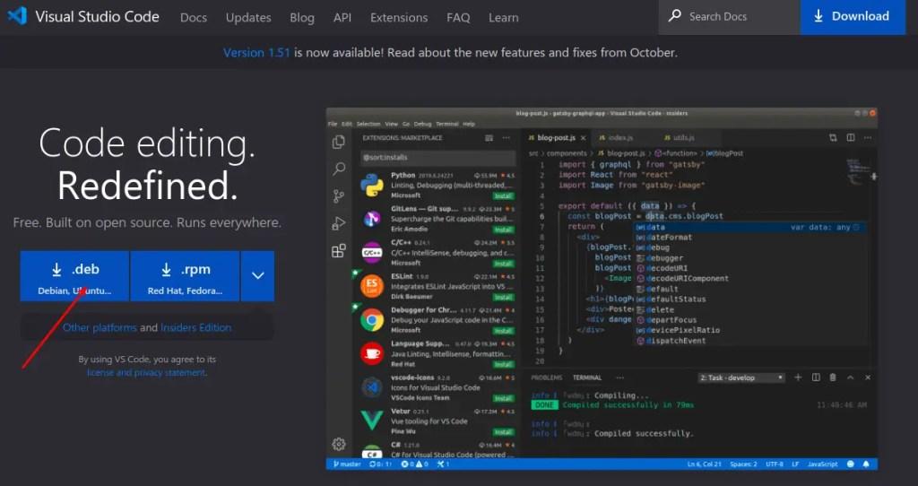 Ubuntu vscode installation