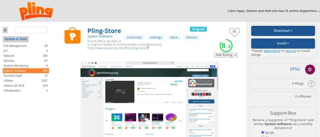 Pling Store Installation Ubuntu