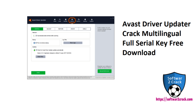 Avast Driver Updater Crack Multilingual Full Serial Key Free Download