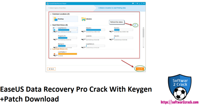 EaseUS Data Recovery Pro Crack With Keygen +Patch Download