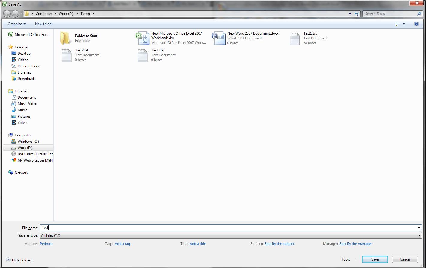 Excel Vba Save File Dialog Getsaveasfilename