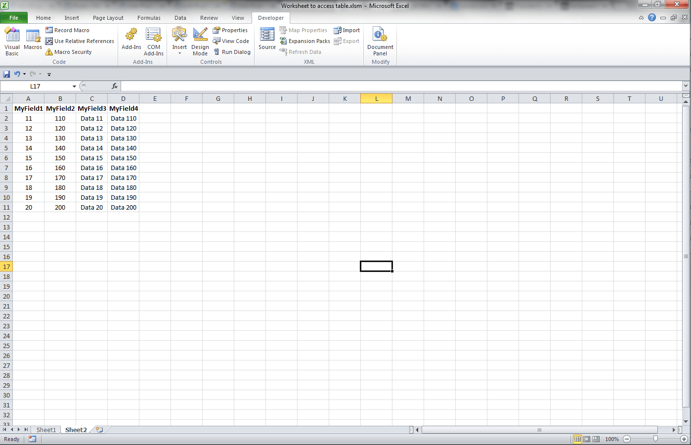 Access Vba Import Excel Worksheet To Existing Table