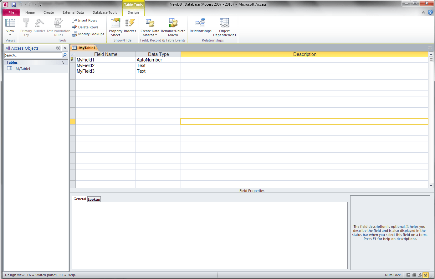 Get Field Names In External Access Database Vba Automation