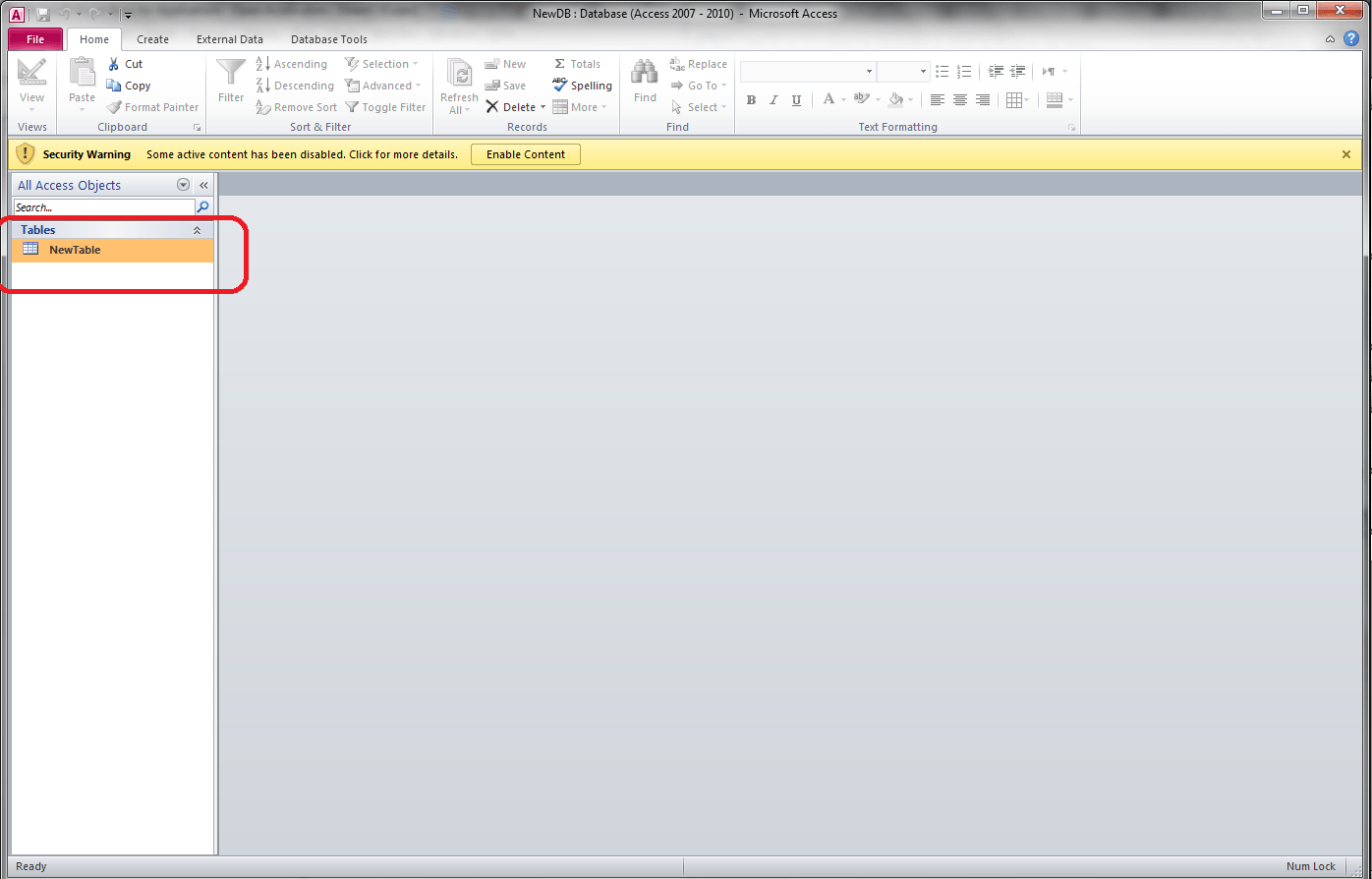 Vba Create New Access Database From Excel