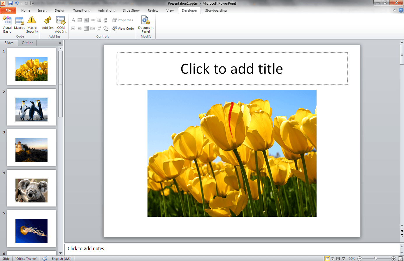 Add All Images From A Folder To A Powerpoint Presentation