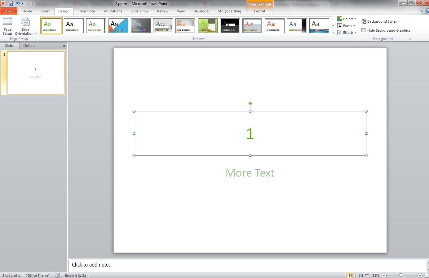 Change Presentation Colorscheme Vba For Powerpoint