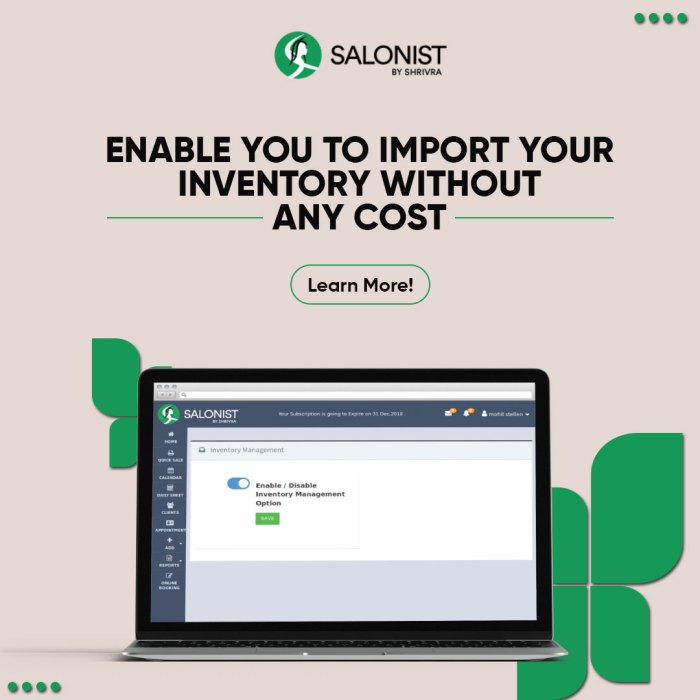 Track the inventory of your products