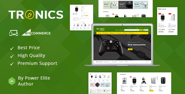 Tronics v3.5.1 - Stencil BigCommerce Multifunctional Template