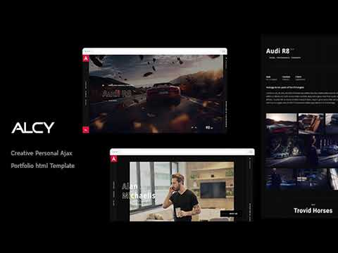 Alcy -Creative Personal Ajax Portfolio html Template