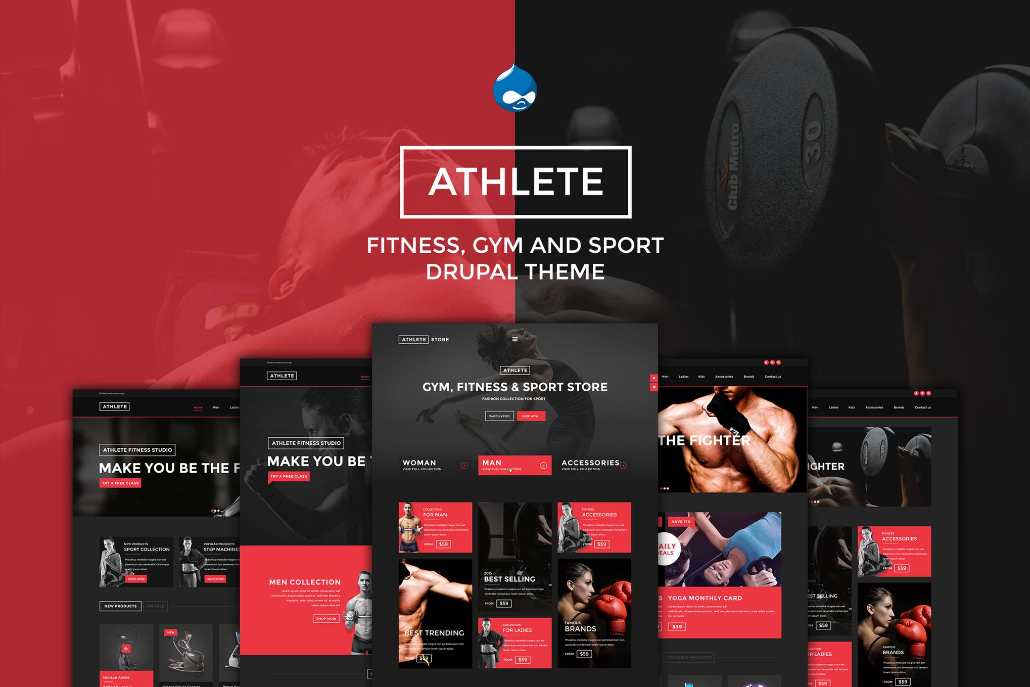Athlete Gym and Sport Drupal theme