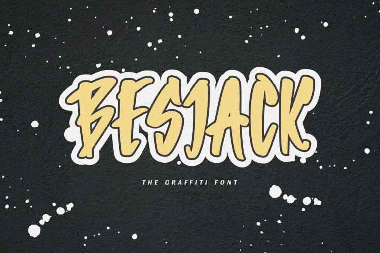 Besjack - The Graffiti Font