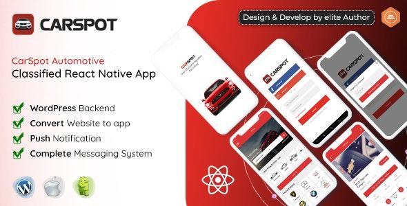 CarSpot - Dealership Classified React Native App