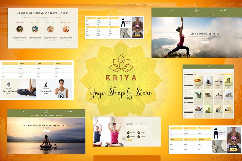 Kriya - Yoga Shopify Store, Pilates Shop Theme