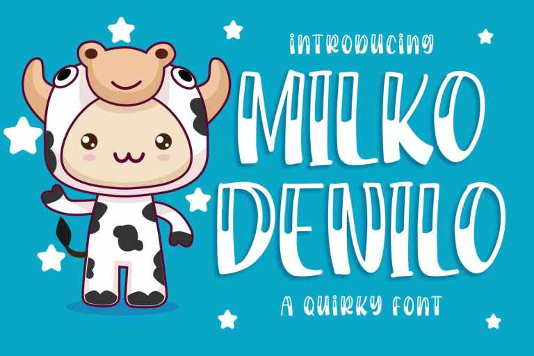 Milko Denilo - a Quirky Font
