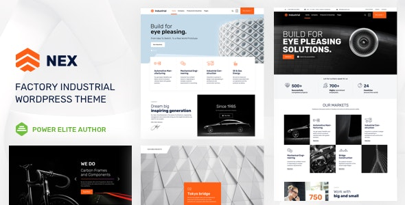 Nex v6 ​​NULLED - a template for industrial enterprises WordPress