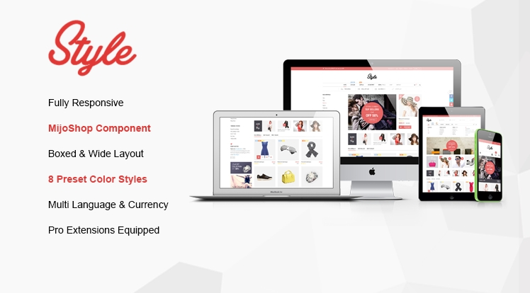 SJ Style - Joomla template for e-commerce
