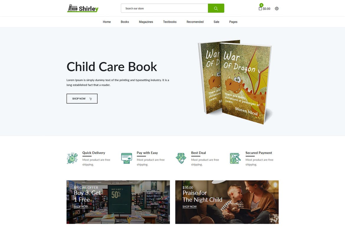 Shirley – Book Store Shopify Theme
