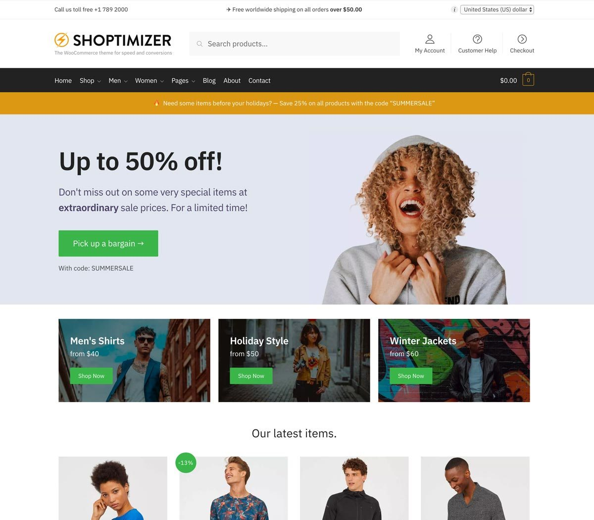 Shoptimizer v2.0.7 - The Fastest WooCommerce Theme