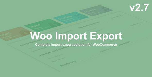 Woo Import Export- WooCommerce import and export plugin