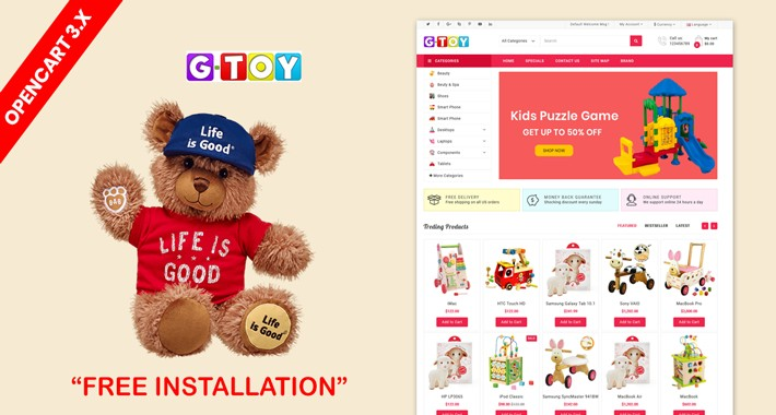 Kid Toys - Opencart 3 baby shop template