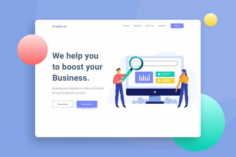 SEO Friendly Website Header Illustration