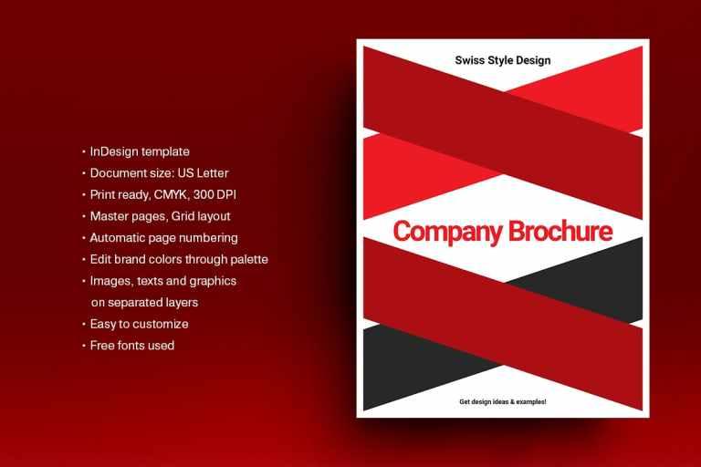 Swiss Style Brochure Template 01