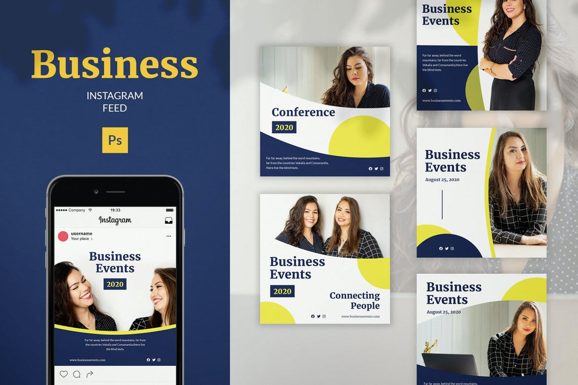 Business Instagram Feed Post Template