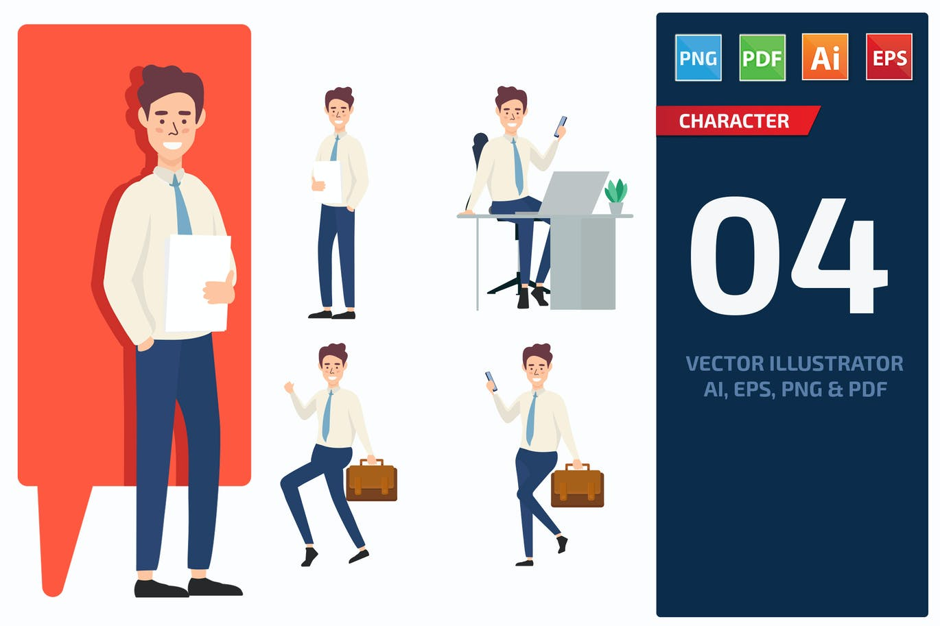 Businessman Character Set 2