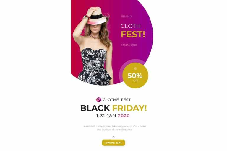 Clothe Fest Instagram Story Powerpoint Template