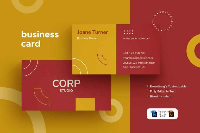 Corp Pro - Business Card - Stationery Kit