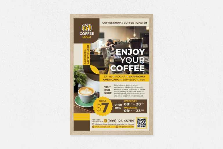 Enjoy Your Coffee Poster
