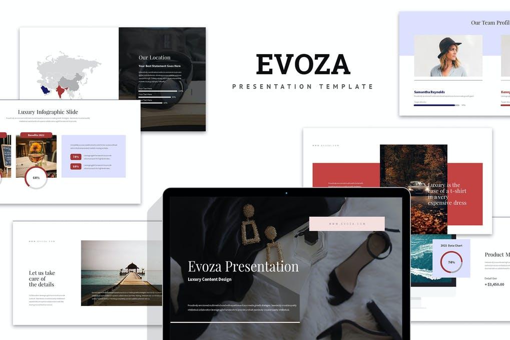 Evoza : Luxury Lifestyle Google Slides